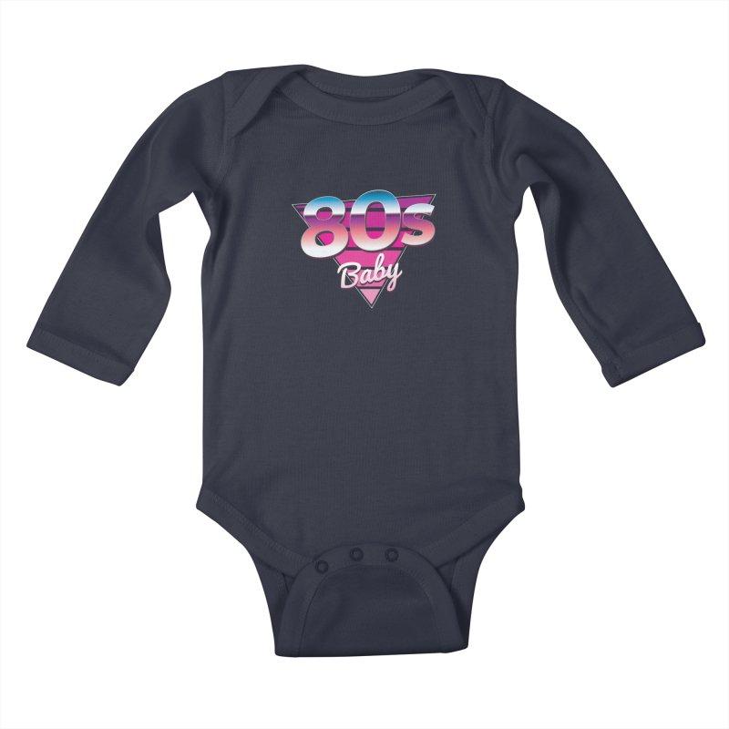 80s Baby Kids Baby Longsleeve Bodysuit by zoljo's Artist Shop