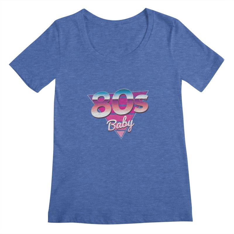80s Baby Women's Regular Scoop Neck by zoljo's Artist Shop