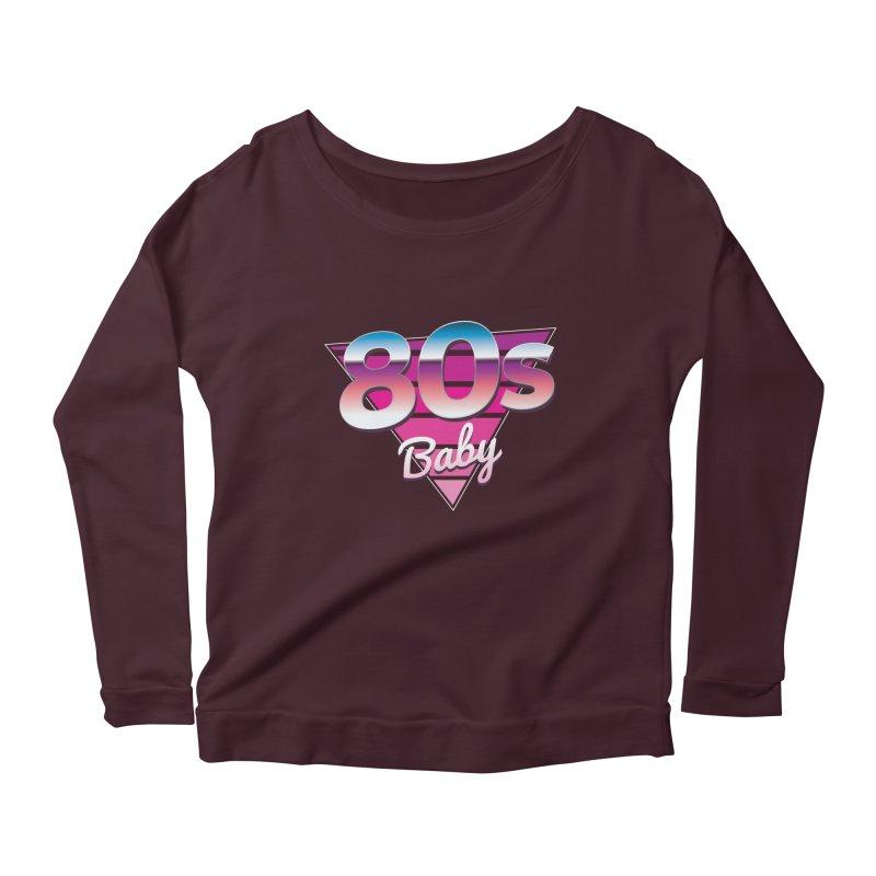 80s Baby Women's Scoop Neck Longsleeve T-Shirt by zoljo's Artist Shop