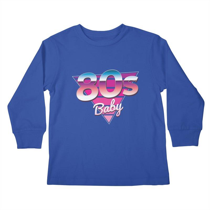 80s Baby Kids Longsleeve T-Shirt by zoljo's Artist Shop