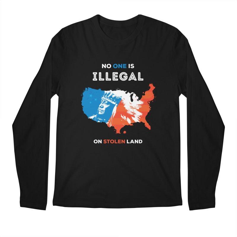 No One Is Illegal on Stolen Land Men's Regular Longsleeve T-Shirt by zoljo's Artist Shop