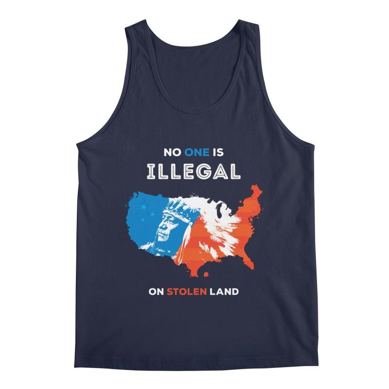 No One Is Illegal on Stolen Land Men's Regular Tank by zoljo's Artist Shop