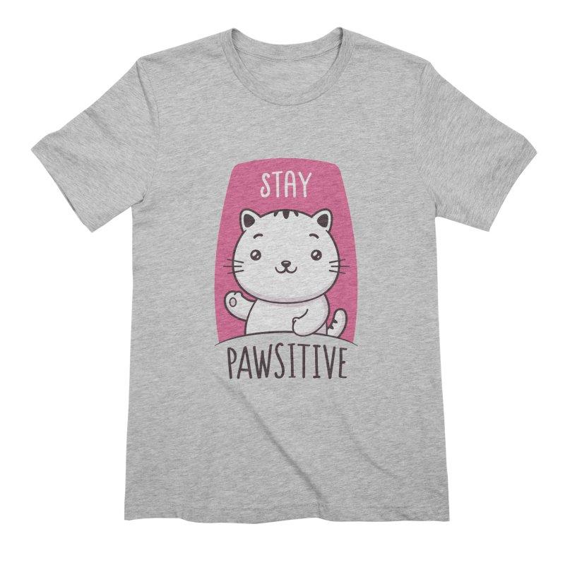 Stay Pawsitive Men's Extra Soft T-Shirt by zoljo's Artist Shop