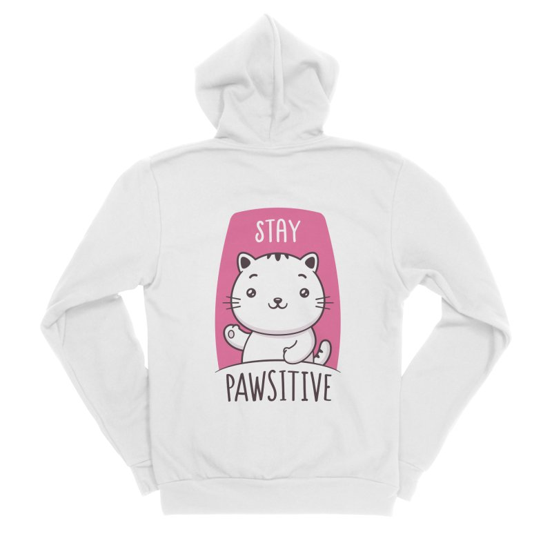 Stay Pawsitive Women's Sponge Fleece Zip-Up Hoody by zoljo's Artist Shop