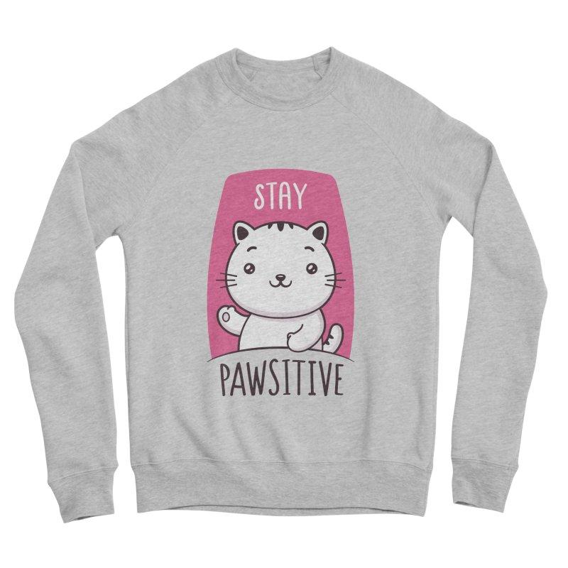 Stay Pawsitive Women's Sponge Fleece Sweatshirt by zoljo's Artist Shop