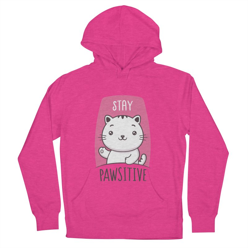Stay Pawsitive Men's French Terry Pullover Hoody by zoljo's Artist Shop