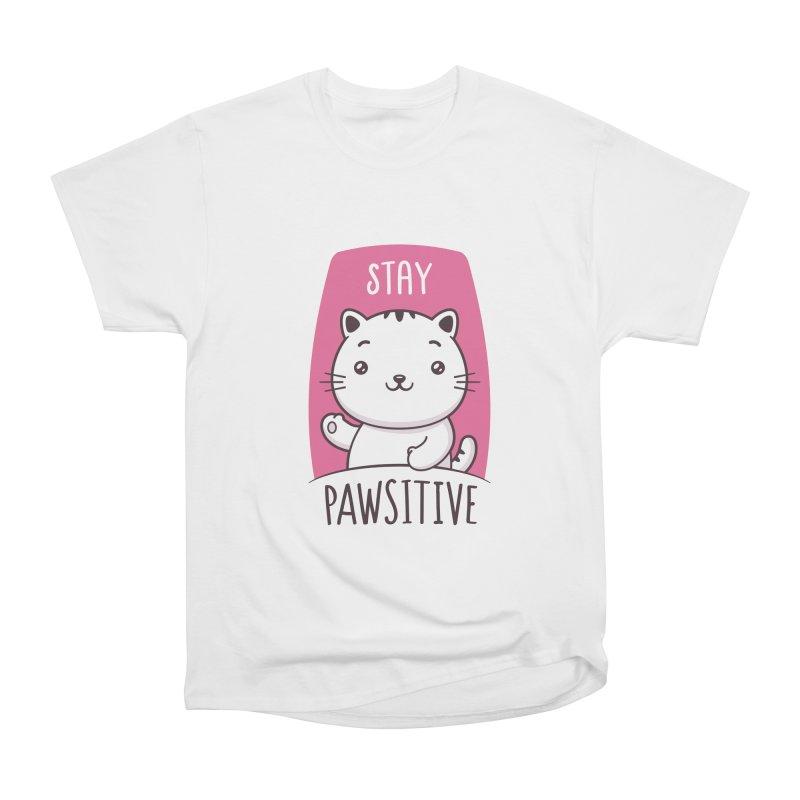 Stay Pawsitive Men's T-Shirt by zoljo's Artist Shop