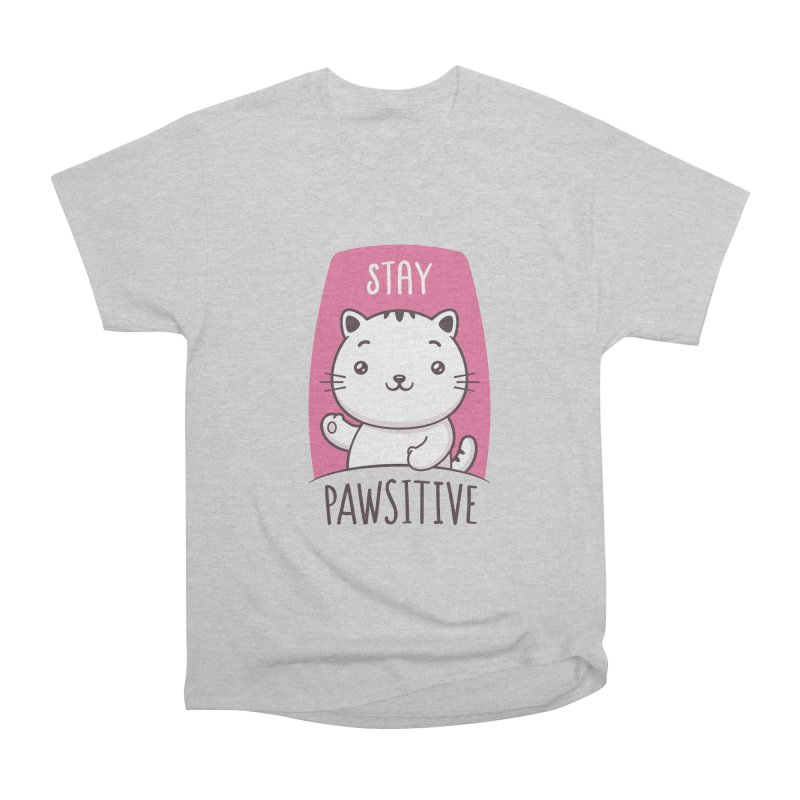 Stay Pawsitive Men's Heavyweight T-Shirt by zoljo's Artist Shop