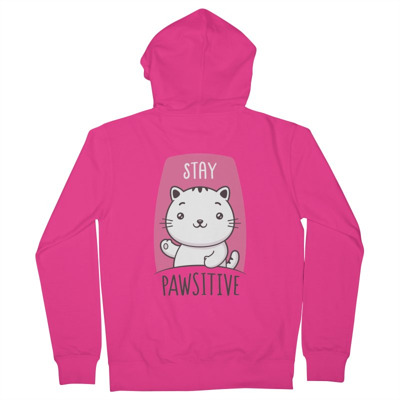 Stay Pawsitive Men's French Terry Zip-Up Hoody by zoljo's Artist Shop