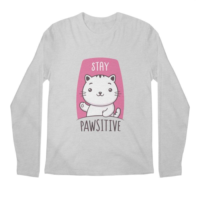 Stay Pawsitive Men's Regular Longsleeve T-Shirt by zoljo's Artist Shop