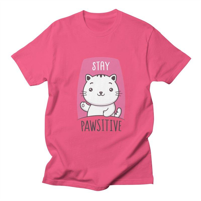 Stay Pawsitive Women's Regular Unisex T-Shirt by zoljo's Artist Shop