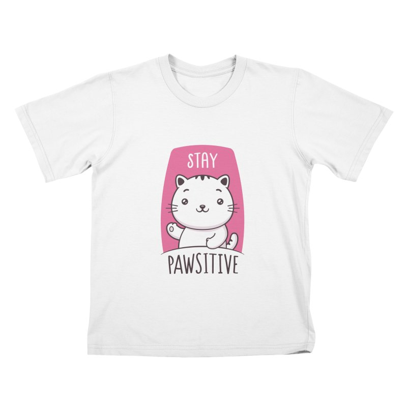 Stay Pawsitive Kids T-Shirt by zoljo's Artist Shop