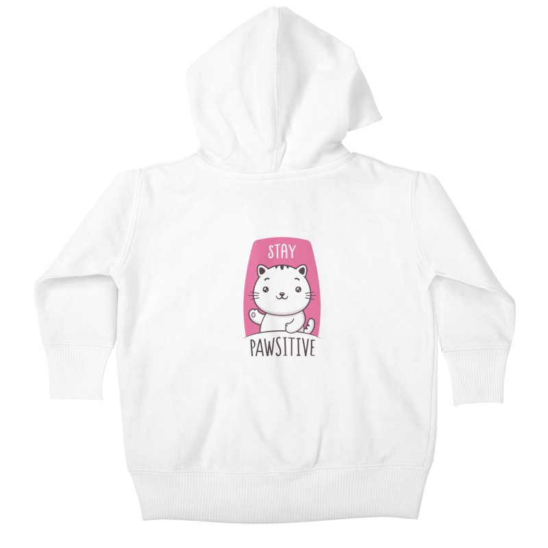Stay Pawsitive Kids Baby Zip-Up Hoody by zoljo's Artist Shop
