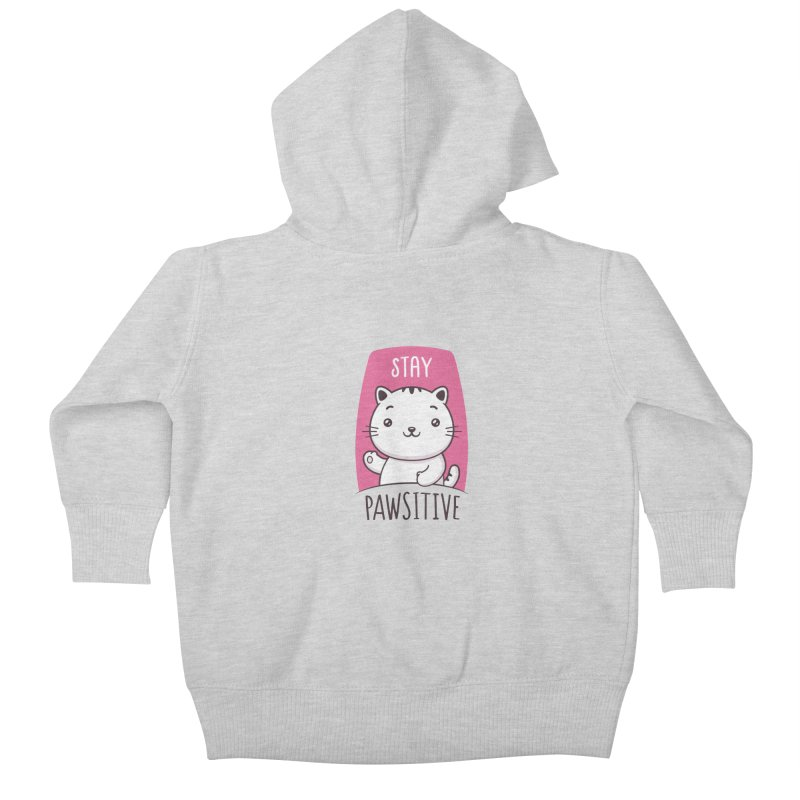 Stay Pawsitive Kids Baby Zip-Up Hoody by zoljo's Artist Shop