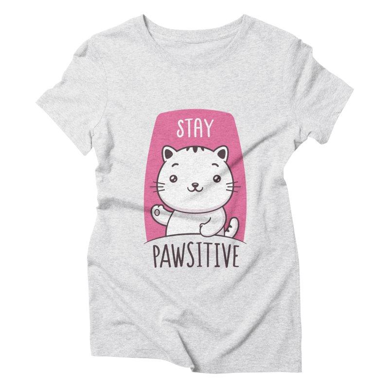 Stay Pawsitive Women's Triblend T-Shirt by zoljo's Artist Shop