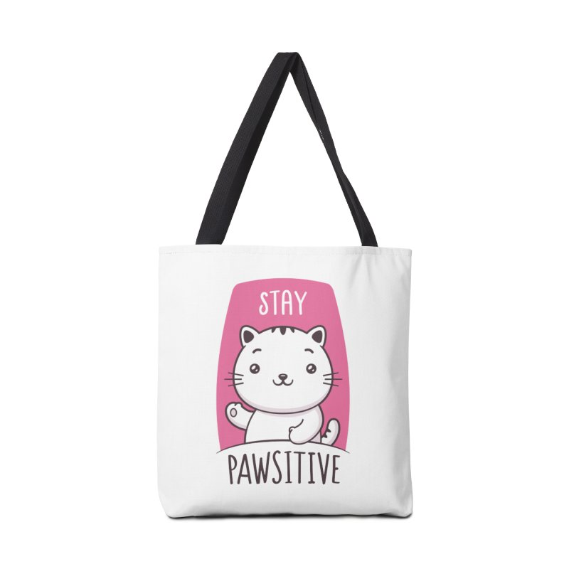 Stay Pawsitive Accessories Bag by zoljo's Artist Shop