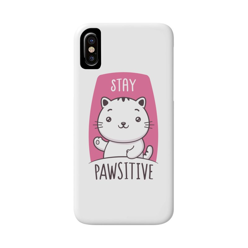 Stay Pawsitive Accessories Phone Case by zoljo's Artist Shop