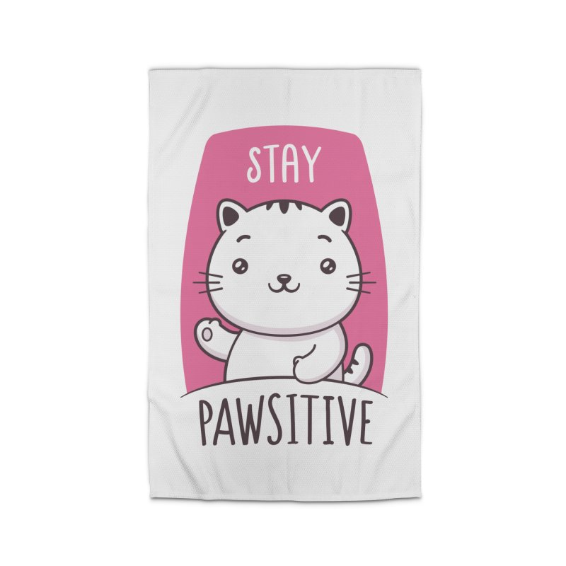 Stay Pawsitive Home Rug by zoljo's Artist Shop