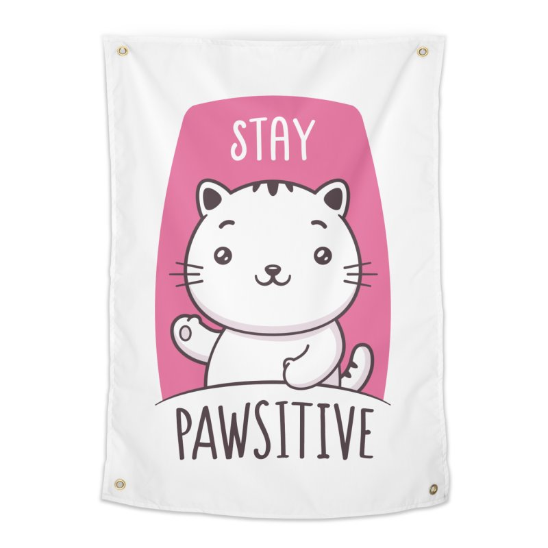 Stay Pawsitive Home Tapestry by zoljo's Artist Shop