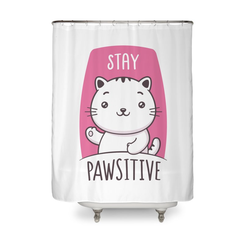 Stay Pawsitive Home Shower Curtain by zoljo's Artist Shop