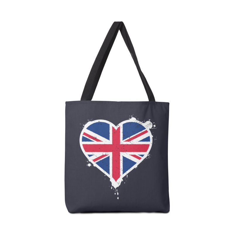 Union Jack Flag Heart Accessories Bag by zoljo's Artist Shop