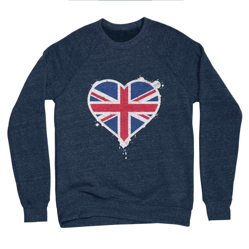 Union Jack Flag Heart Women's Sponge Fleece Sweatshirt by zoljo's Artist Shop