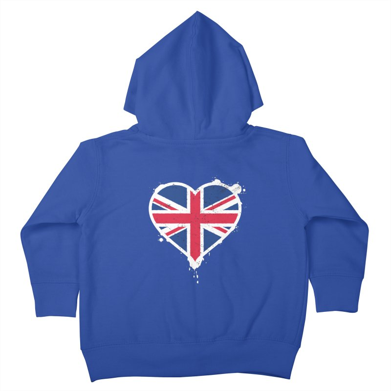 Union Jack Flag Heart Kids Toddler Zip-Up Hoody by zoljo's Artist Shop