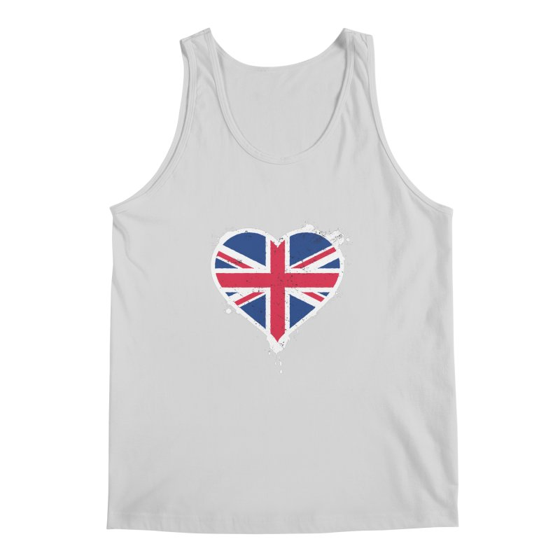 Union Jack Flag Heart Men's Regular Tank by zoljo's Artist Shop