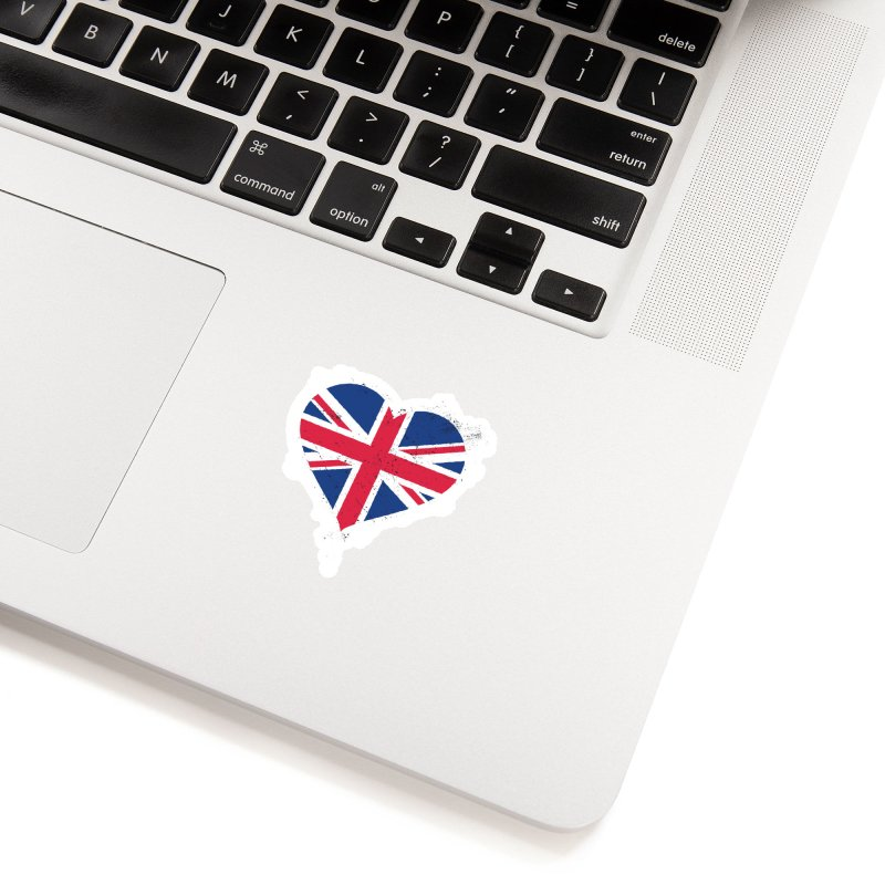 Union Jack Flag Heart Accessories Sticker by zoljo's Artist Shop