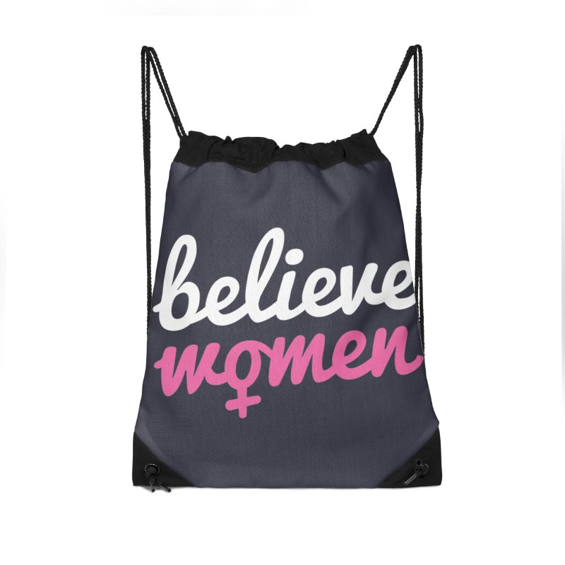 Believe Women Accessories Drawstring Bag Bag by zoljo's Artist Shop