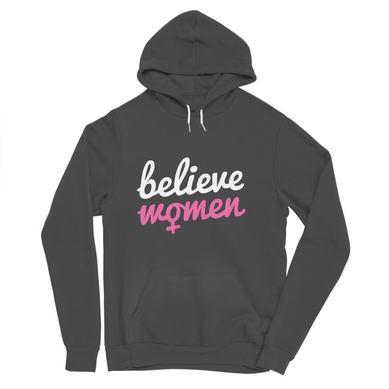 Believe Women Women's Sponge Fleece Pullover Hoody by zoljo's Artist Shop