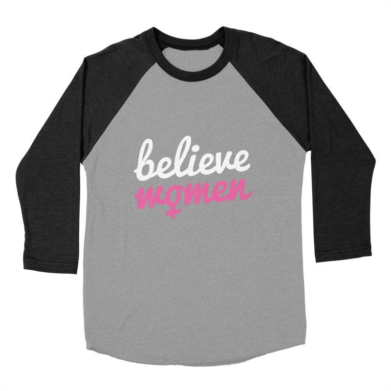 Believe Women Women's Baseball Triblend Longsleeve T-Shirt by zoljo's Artist Shop