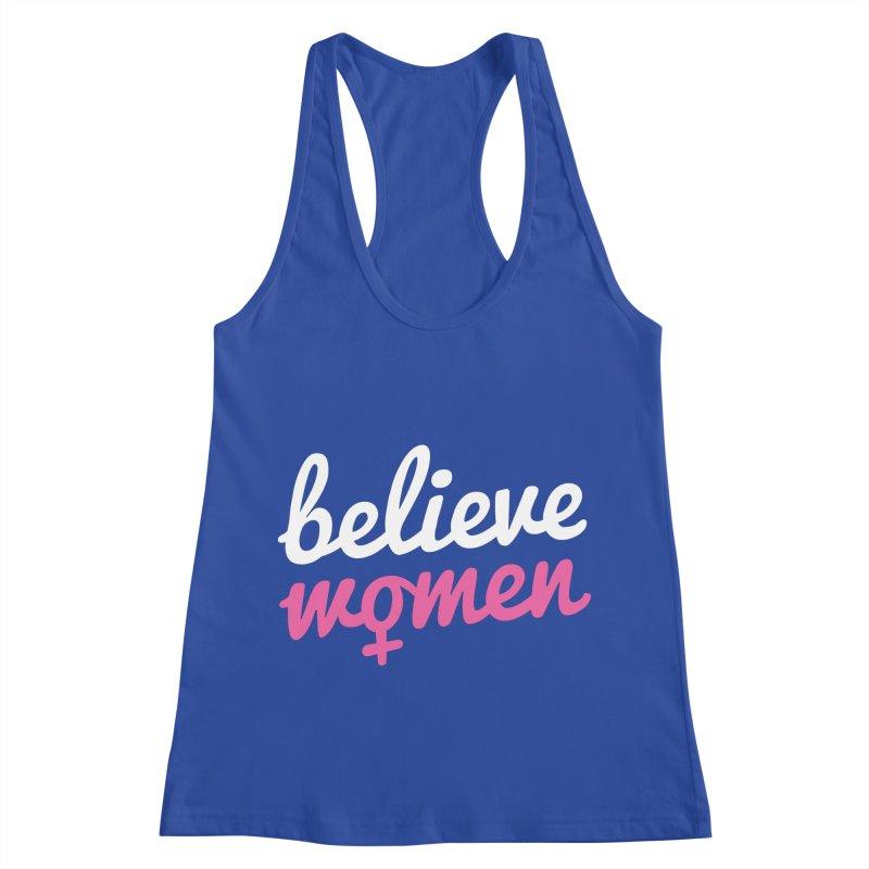 Believe Women Women's Racerback Tank by zoljo's Artist Shop
