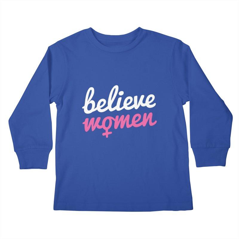 Believe Women Kids Longsleeve T-Shirt by zoljo's Artist Shop