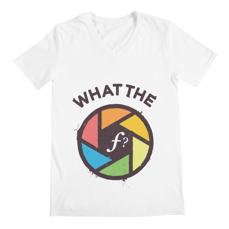 WTF - What the F? Men's Regular V-Neck by zoljo's Artist Shop
