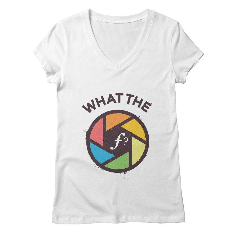 WTF - What the F? Women's Regular V-Neck by zoljo's Artist Shop
