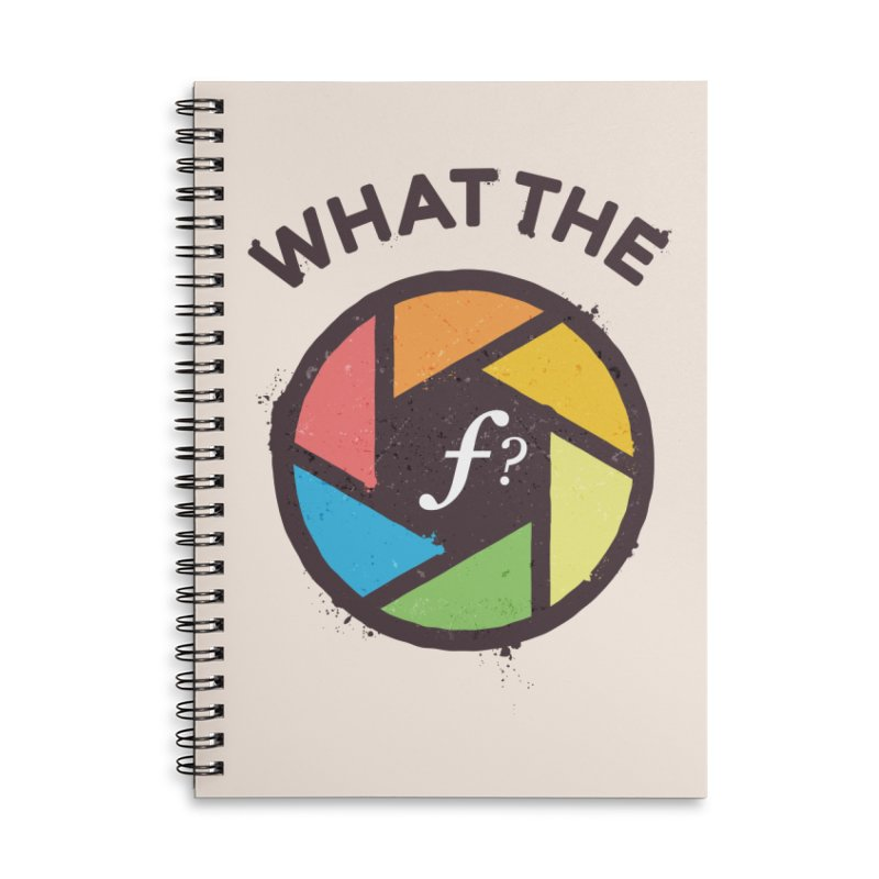 WTF - What the F? Accessories Lined Spiral Notebook by zoljo's Artist Shop