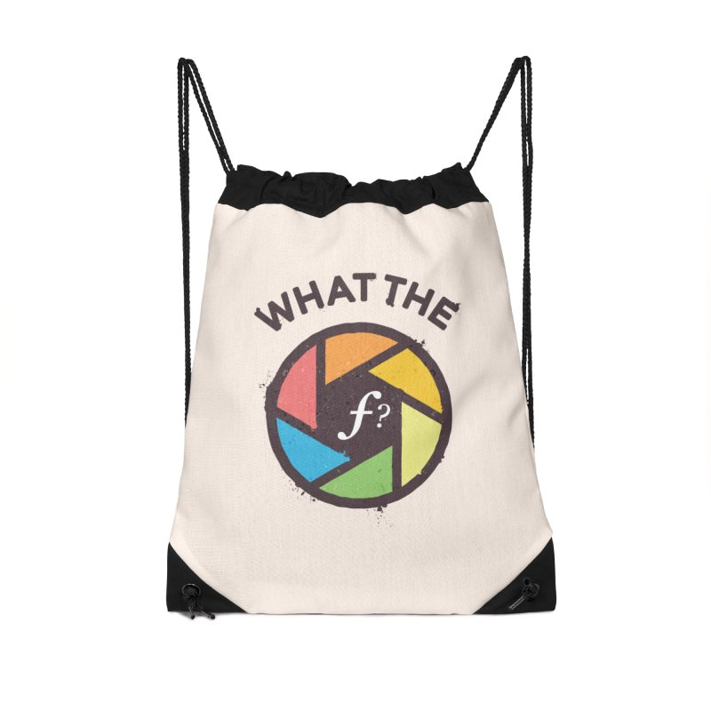 WTF - What the F? Accessories Drawstring Bag Bag by zoljo's Artist Shop