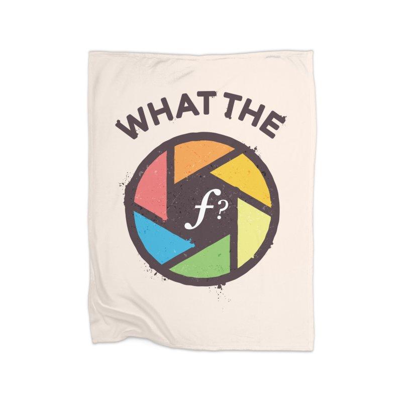 WTF - What the F? Home Fleece Blanket Blanket by zoljo's Artist Shop
