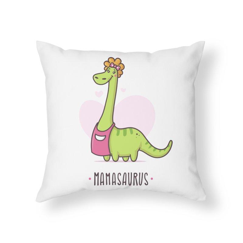 Mamasaurus Home Throw Pillow by zoljo's Artist Shop