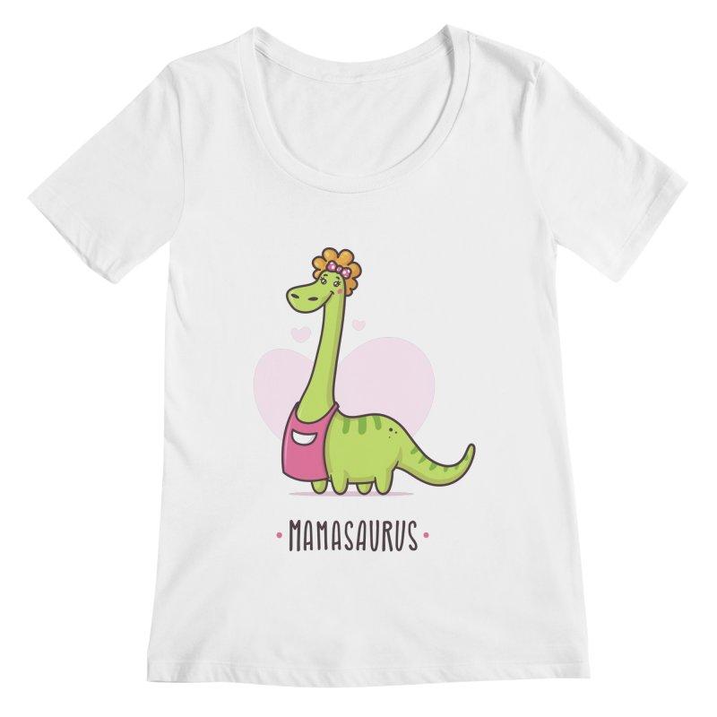 Mamasaurus Women's Regular Scoop Neck by zoljo's Artist Shop