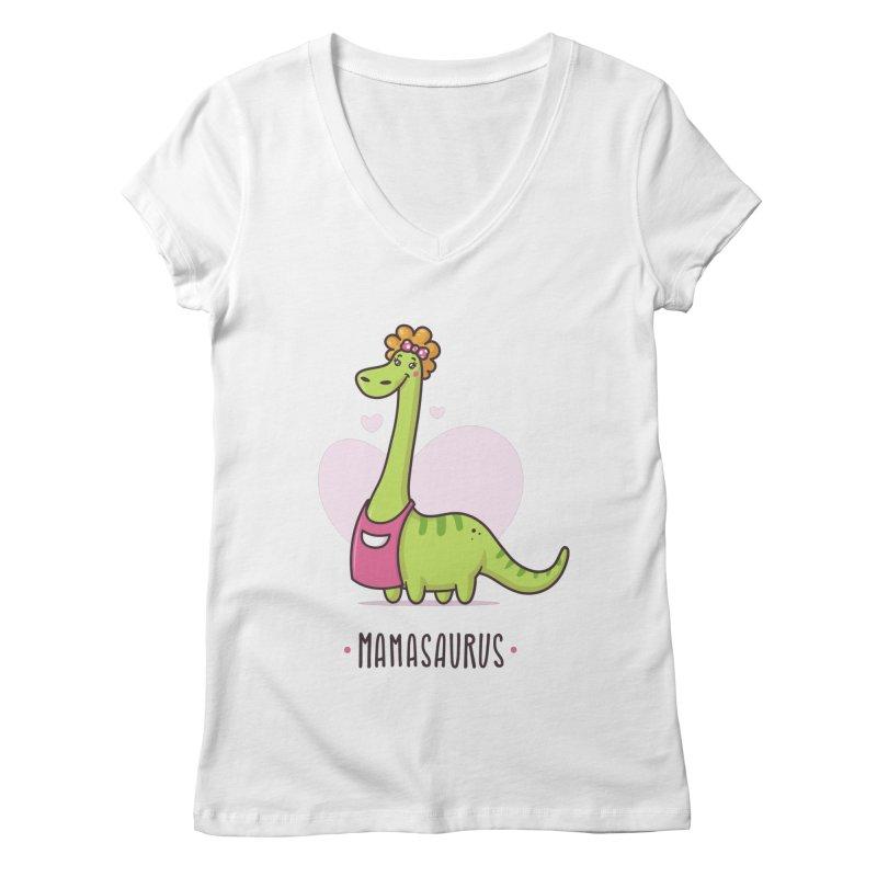 Mamasaurus Women's Regular V-Neck by zoljo's Artist Shop