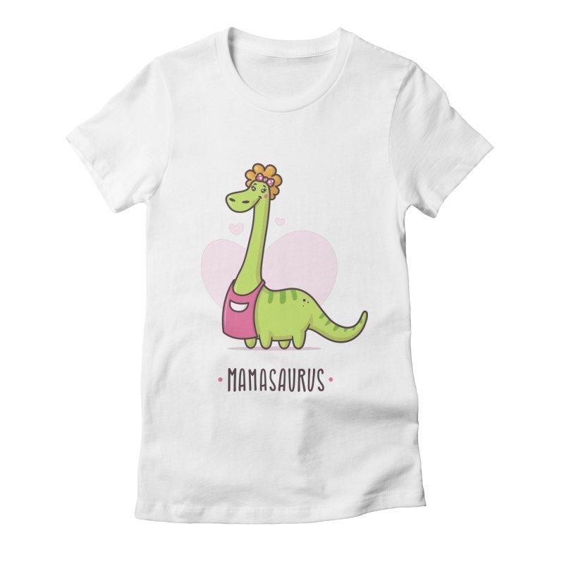 Mamasaurus Women's Fitted T-Shirt by zoljo's Artist Shop