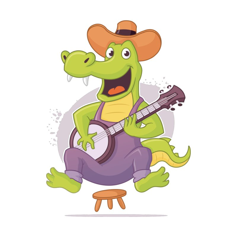 Bluegrass Alligator Kids T-Shirt by zoljo's Artist Shop