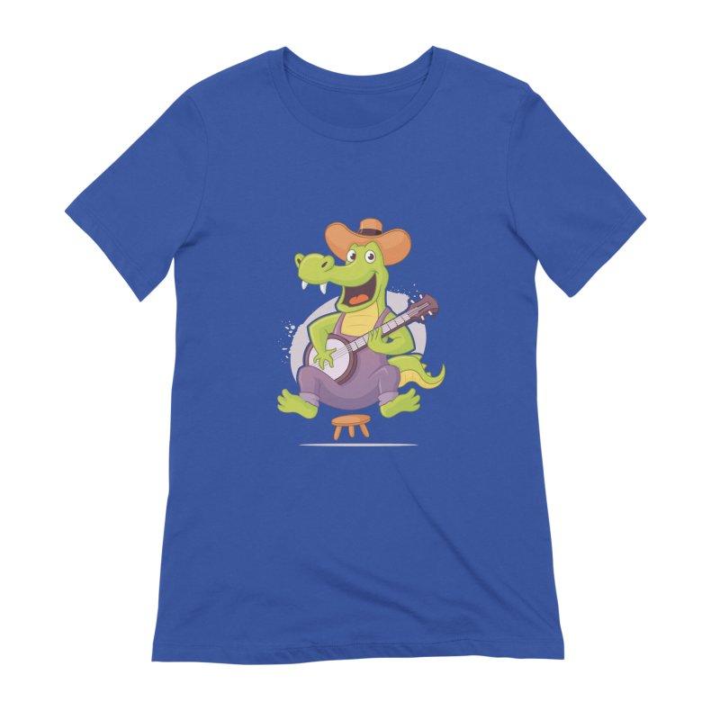 Bluegrass Alligator Women's Extra Soft T-Shirt by zoljo's Artist Shop