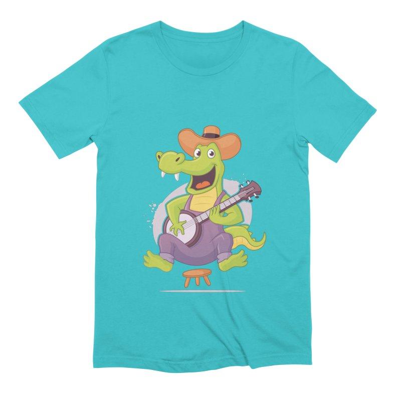 Bluegrass Alligator Men's Extra Soft T-Shirt by zoljo's Artist Shop