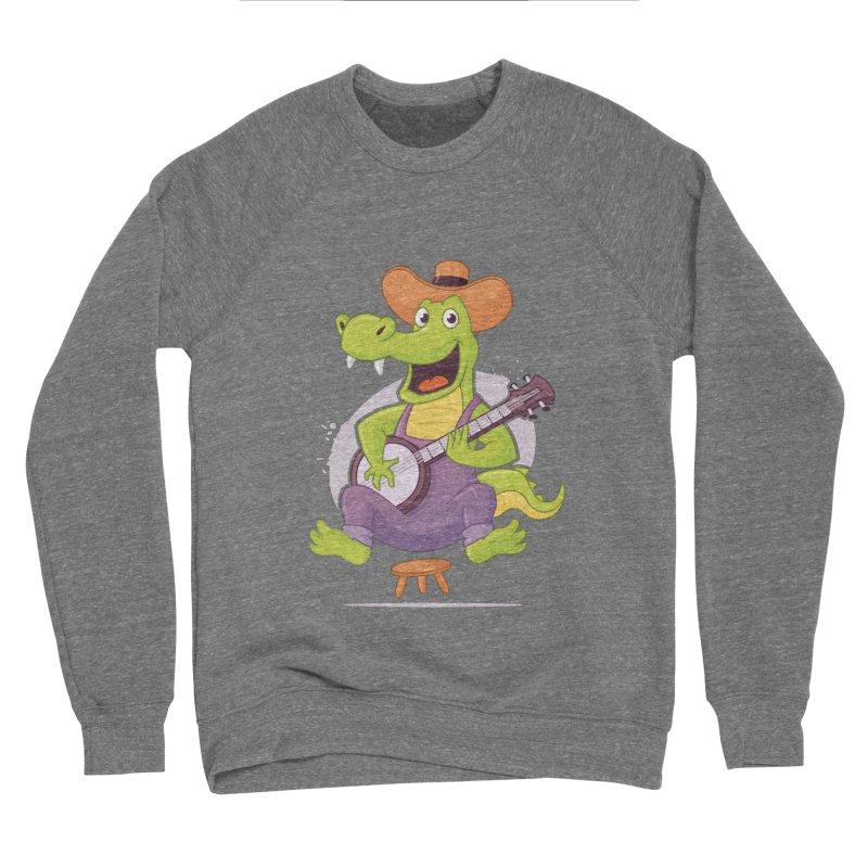 Bluegrass Alligator Men's Sponge Fleece Sweatshirt by zoljo's Artist Shop