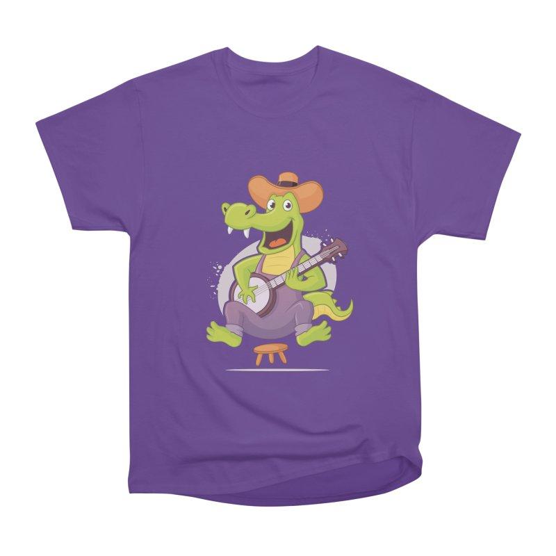 Bluegrass Alligator Men's Heavyweight T-Shirt by zoljo's Artist Shop