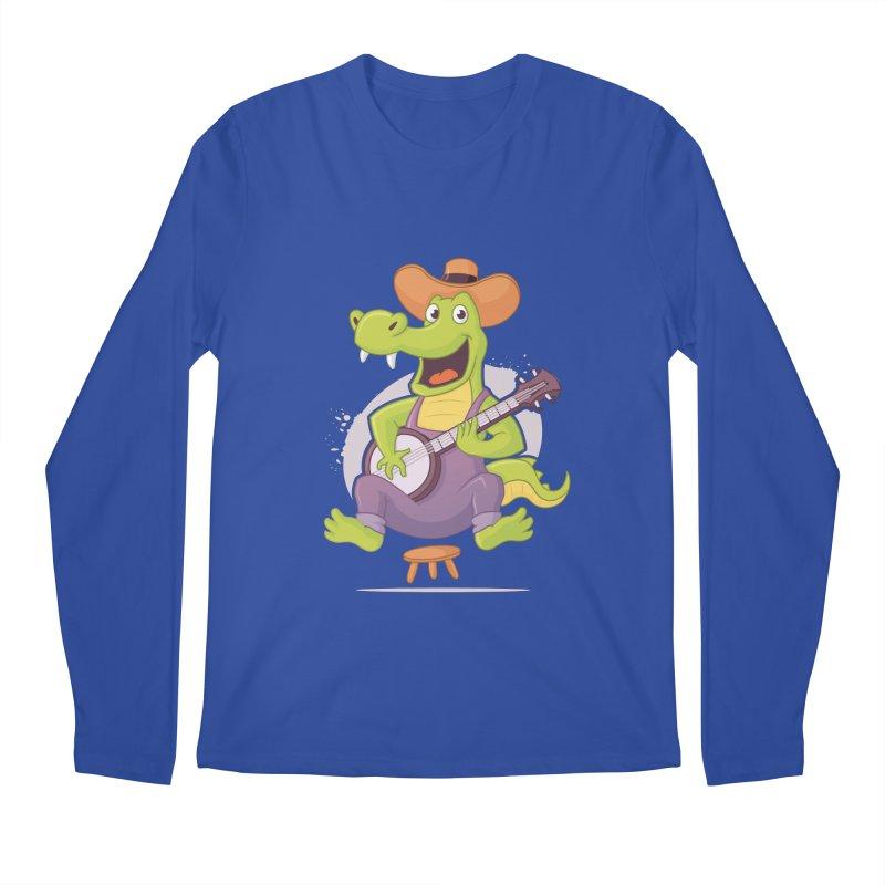 Bluegrass Alligator Men's Regular Longsleeve T-Shirt by zoljo's Artist Shop