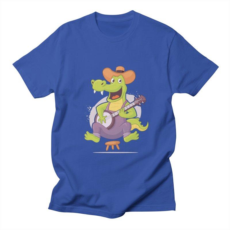 Bluegrass Alligator Men's Regular T-Shirt by zoljo's Artist Shop